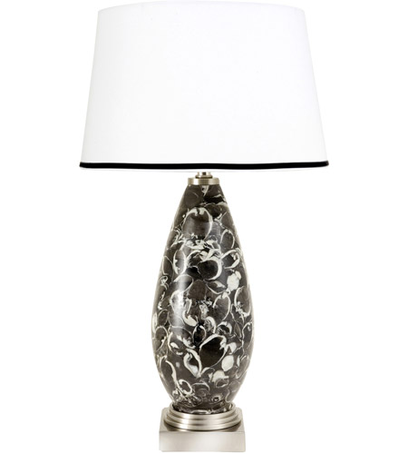 Frederick Cooper by Wildwood Lamps Cortez II Table Lamp in Black And Grey Marble 65183 photo