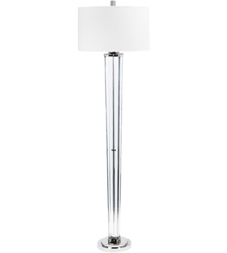 Wildwood Lamps Crispin Floor Lamp in Shiny Nickel And Acrylic 65211 photo