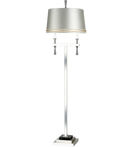 Wildwood Lamps Jet Set II Floor Lamp in Satin Nickel 65214-2 photo