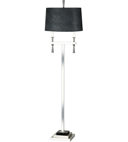 Wildwood Lamps Jet Set II Floor Lamp in Satin Nickel 65214 photo