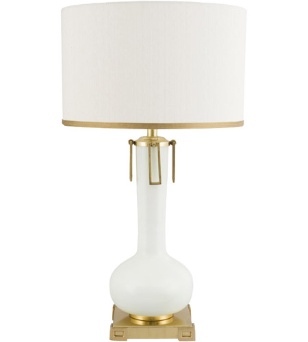 Wildwood Lamps 65250 Larry Laslo 31 Inch 100 Watt Ivory And Antique Brass Table  Lamp Portable Light