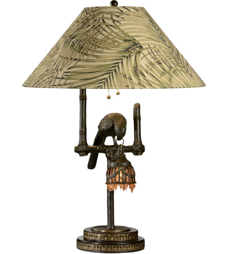 Wildwood Lamps 65261 Polly by Night 30 inch 150 watt Dark Brown Table Lamp Portable Light photo