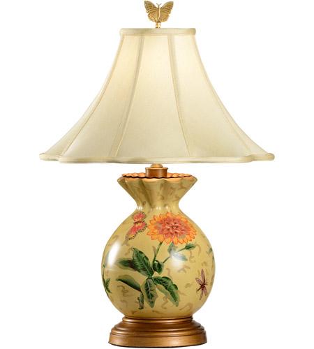 Wildwood 6614 Gathered 24 Inch 100 Watt Hand Painted Porcelain Table Lamp  Portable Light Photo