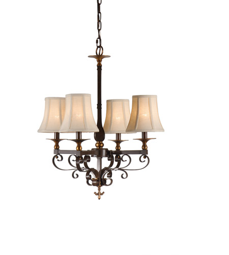 Wildwood Lamps Signature Chandelier in Old Bronze Patina On Iron 67015 photo