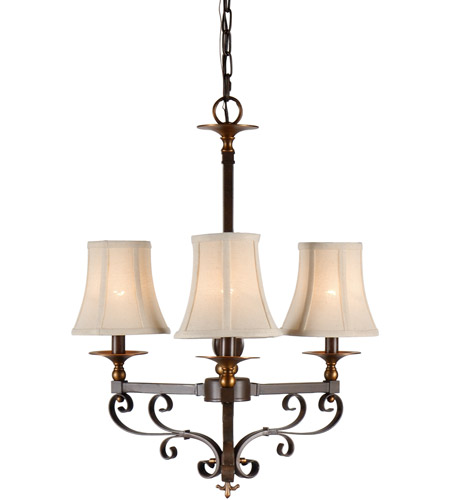 Wildwood Lamps Signature Chandelier in Old Bronze Patina On Iron 67016 photo