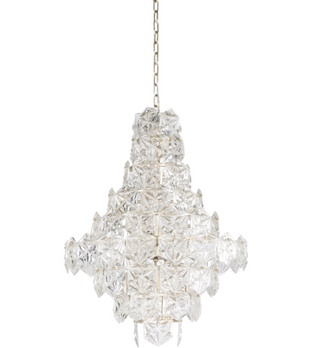 Antique Silver Leaf and Clear Chandeliers
