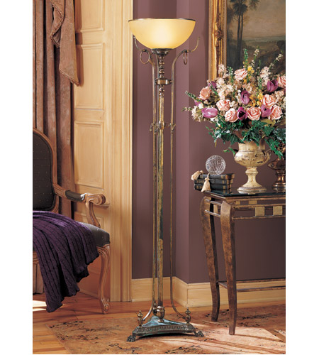 Wildwood Lamps And Rings Torchiere in Hand Finished Italian Bronze 75 photo