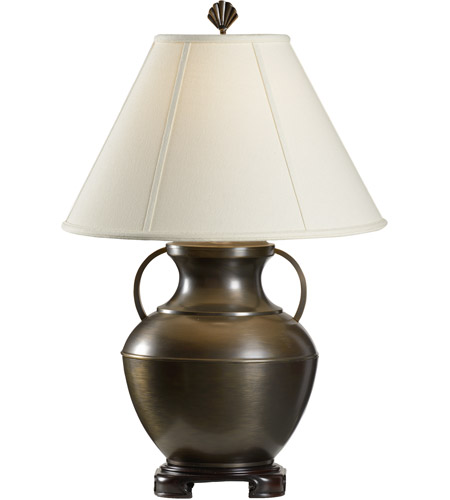 Wildwood 761 Wildwood 29 Inch 100 Watt Oxidized Solid Brass Table Lamp Portable Light