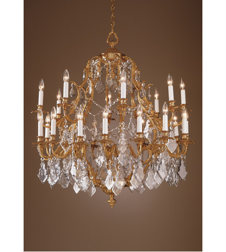 Wildwood Lamps Crystal And Gold Chandelier in French Gold With Lead Crystal 7729 photo