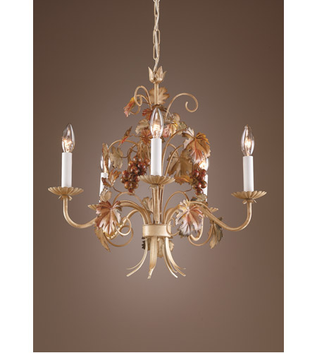 Wildwood Lamps Grapes And Leaves Chandelier in Florentine Ironwork 7754 photo