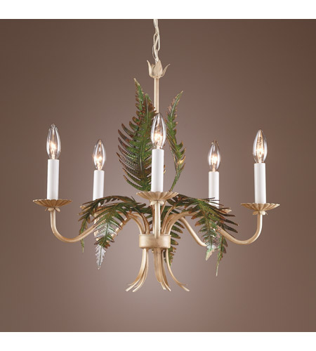 Wildwood Lamps Fern Chandelier in Hand Colored Iron 7755 photo
