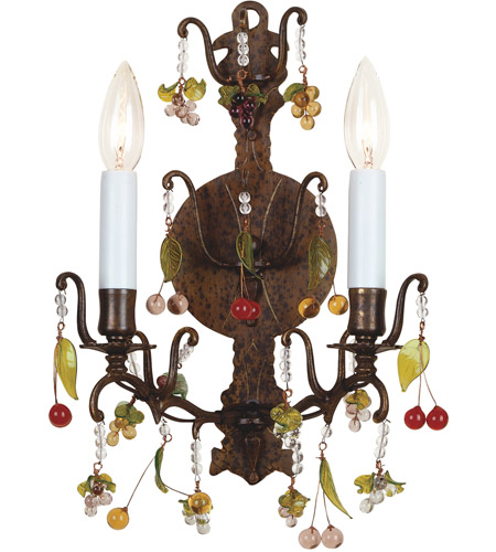 Wildwood Lamps With Crystals Sconce in Hand Finished Brass 7789 photo