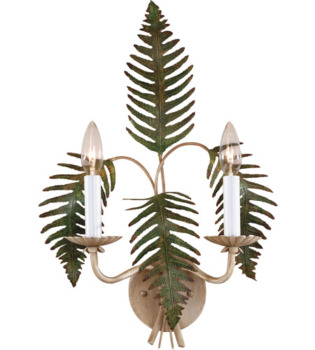 Wildwood Lamps Fern Sconce in Hand Colored Iron 7794 photo