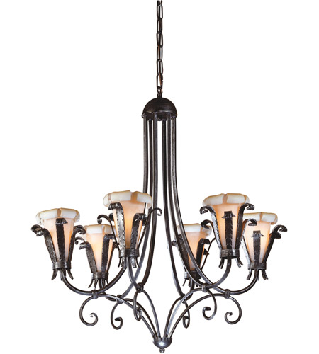 Wildwood Lamps 7805 Etruscan Iron 6 Light 30 inch Iron Chandelier Ceiling Light photo