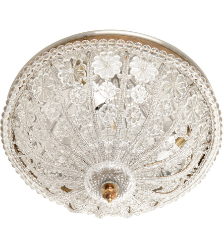Wildwood Lamps 7806 Crystal 3 Light 15 inch Crystal Roping And Drops Flush Mount Ceiling Light photo