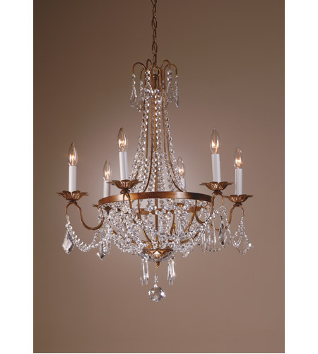 Wildwood Lamps Iron With Crystals Chandelier in Golden Rust Finish On Iron 7807 photo