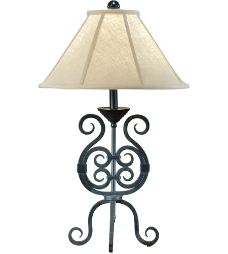 Wildwood Lamps Iron Scrolls Table Lamp in Handmade And Finished 7866 photo
