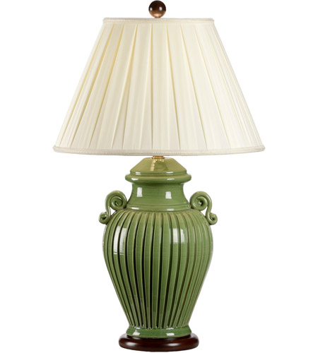 Wildwood Lamps Fluted Jar Table Lamp in Handmade And Glazed Florentine Ceramic 8706 photo