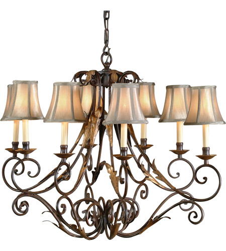 Wildwood Lamps Iron Chandelier in Tuscan Rust/Gold Finish 8897 photo
