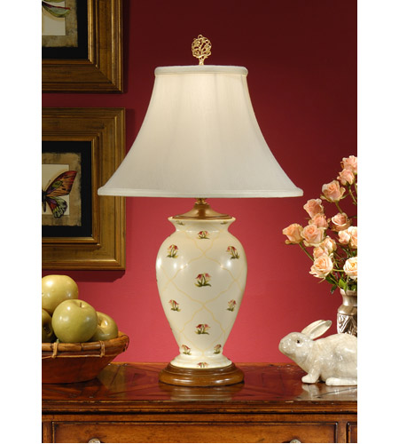 Wildwood Lamps Little Flowers Table Lamp in Hand Painted Porcelain 8901 photo