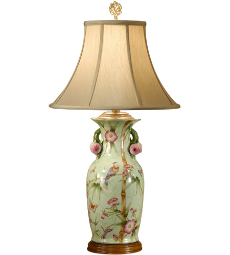 Wildwood Lamps Birds In Bamboo Table Lamp In Hand Painted