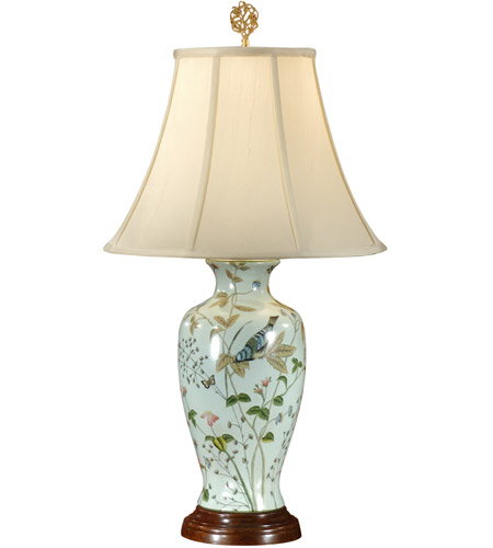 Wildwood Lamps Wonderful Bluebird Table Lamp in Hand Painted Porcelain 8958 photo