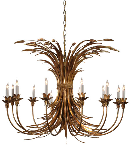 Wildwood Lamps Iron Wheat Chandelier in Hand Finished Wrought Iron 8988 photo