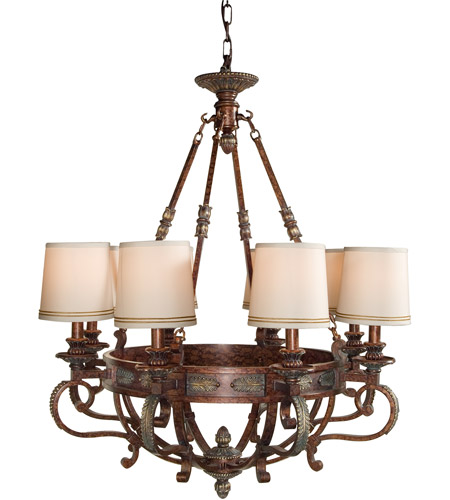 Wildwood Lamps Signature Chandelier in Tortoise On Iron And Alloy 9025 photo