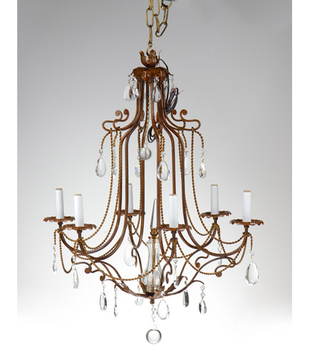 Wildwood Lamps Iron With Crystals Chandelier in Hand Made And Finished Iron 9040 photo