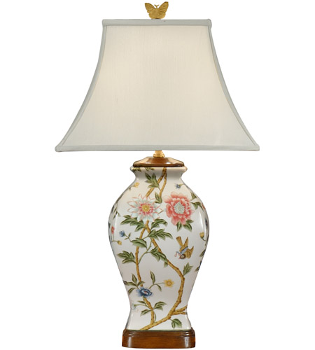 Wildwood Lamps Little Bird Vase Table Lamp in Hand Painted Porcelain 9100 photo
