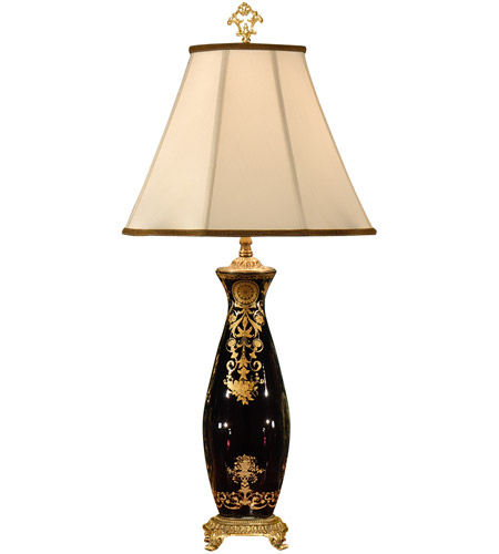 Wildwood Lamps Flower Vase Table Lamp in Hand Decorated Crystal 9181 photo