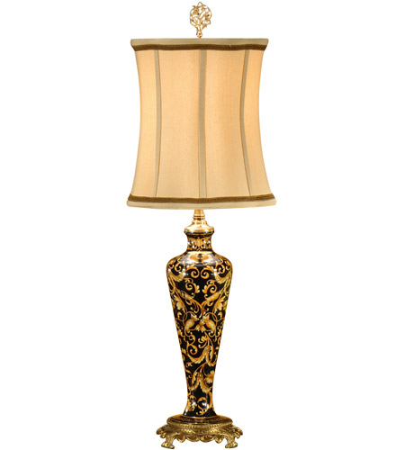 Wildwood Lamps Slender Vase Table Lamp in Hand Decorated Porcelain 9186 photo