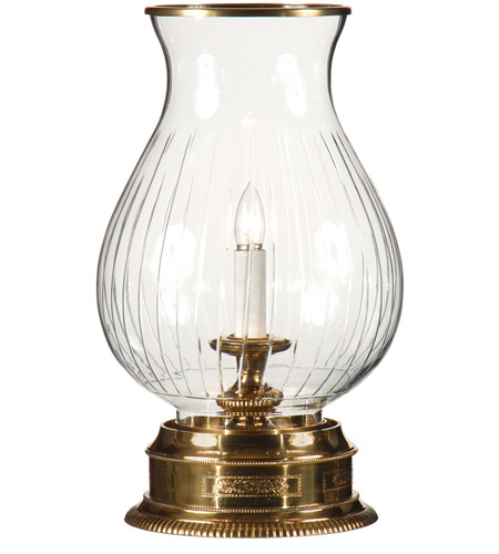 Wildwood Lamps Hurricane Table Lamp in Solid Brass With Antique Patina 9241 photo