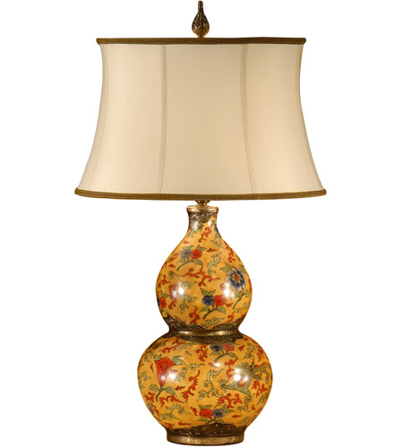 Wildwood Lamps 9252 Gourd 29 inch 100 watt Antique Patina On Porcelain Table Lamp Portable Light photo
