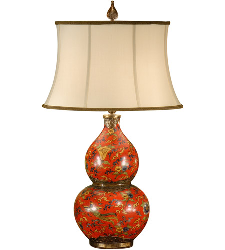 Wildwood Lamps 9253 Gourd 29 inch 100 watt Antique Patina On Porcelain Table Lamp Portable Light photo