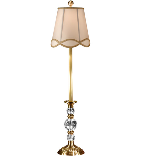 Wildwood Lamps Crystal Balls Buffet Table Lamp In Antique