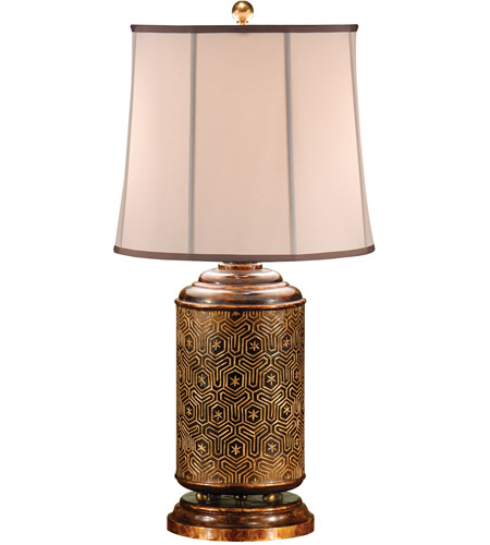 Wildwood Lamps Stars And Diamonds Table Lamp in Hand Carved And Colored Wood 9284 photo