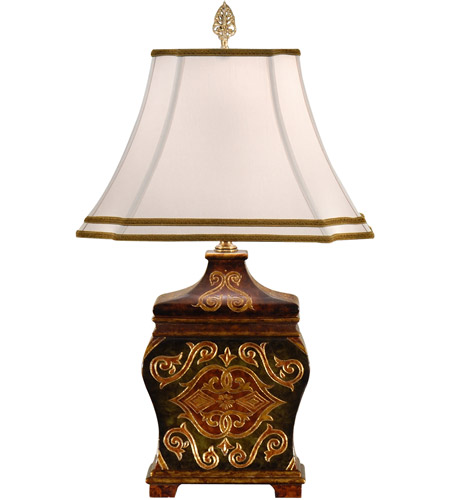 Wildwood Lamps Teabox Table Lamp in Engraved And Hand Painted 9323 photo