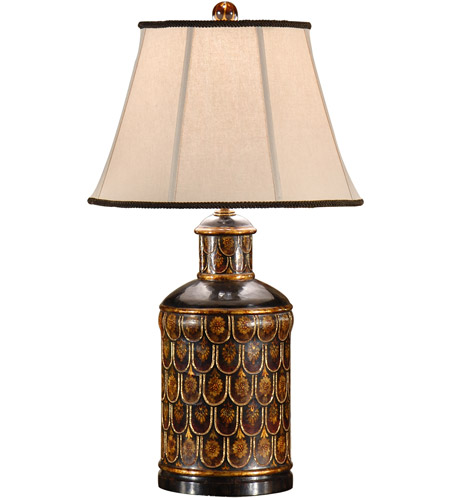 Wildwood Lamps 9328 Tea Box 29 inch 100 watt Hand Carved And Colored Table Lamp Portable Light photo