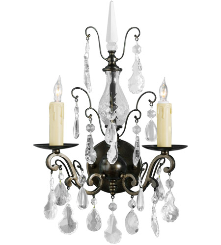 Wildwood Lamps Signature Sconce in Iron And Crystal 9377 photo
