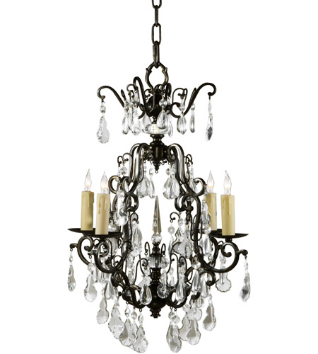 Wildwood Lamps Signature Chandelier in Iron And Crystal 9378 photo