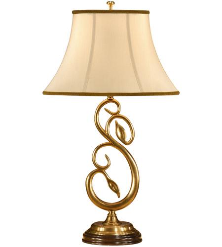 Wildwood Lamps 9383 Graceful 29 Inch 100 Watt Antique Brass Table Lamp  Portable Light Photo