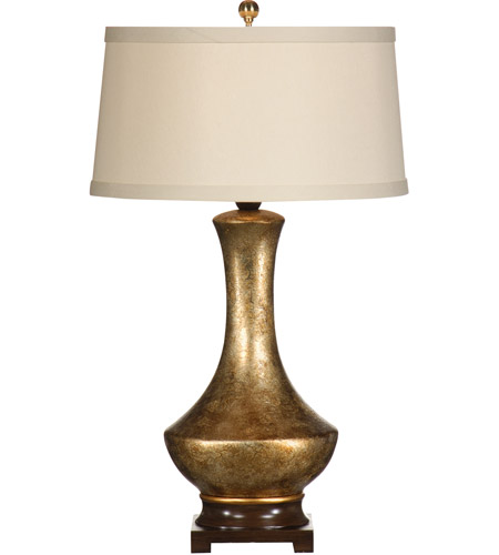 Wildwood Lamps 9448 Golden 34 inch 100 watt Antique Crackle Gold Table Lamp Portable Light photo