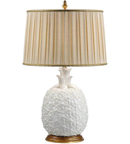Blanc pineapple 31 inch 100 watt milk glazed ceramic table for 100 watt table lamps