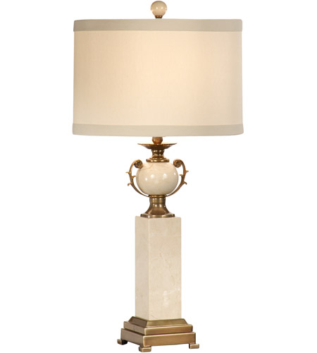 Wildwood Lamps Column Urn Table Lamp in Genuine Marble 9531 photo