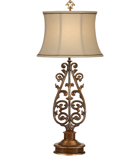 Wildwood Lamps Tuscan Balcony Table Lamp in Firenze Gold 9615 photo