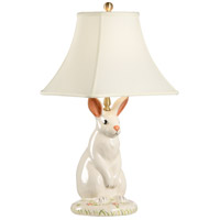 Wildwood Lamps Dignified Rabbit Table Lamp in Hand Painted Porcelain 10165