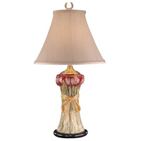 Wildwood Lamps Bouquet Of Tulips Table Lamp in Hand Painted Porcelain 10249 photo thumbnail