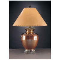 Wildwood Lamps Ripples Jar Table Lamp in Hammered Solid Brass 10252 photo thumbnail