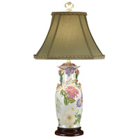 Wildwood Lamps Floating Flowers Table Lamp in Hand Painted Porcelain 1033